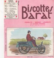 Buvars Biscottes BARAT Série Automobiles Benz 1890 - Zwieback