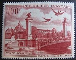LOT FD/1802 - 1949 - POSTE AERIENNE - N°28 NEUF** - Poste Aérienne