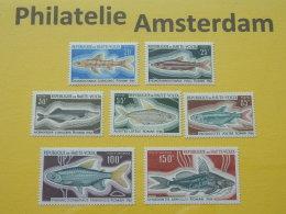 Upper Volta 1969, FAUNA FISH FISCHE VISSEN POISSONS PECES PESCI: Mi 263-66, + 273-75, ** - Vissen