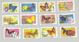 Maldives #1893-1907 Butterflies, Flowers 12v & 3v S/S Imperf Proofs - Maldives (1965-...)
