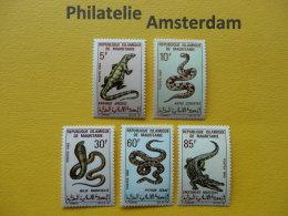 Mauritania 1969, FAUNA SNAKES REPTILES: Mi 364-68, ** - Slangen