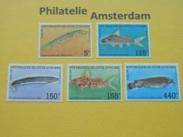 Ivory Coast 1986, FAUNA MARINE LIFE FISH FISCHE VISSEN POISSONS PECES PESCI: Mi 920-24, ** - Fishes