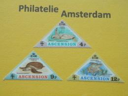Ascension 1973, FAUNA TURTLES SCHILDPADDEN SCHILDKROTE TORTOISES TORTUES : Mi 170-72, ** - Turtles