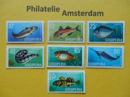 Albania 1967, FAUNA MARINE LIFE FISH FISCHE VISSEN POISSONS PECES PESCI: Mi 1131-37, ** - Vissen