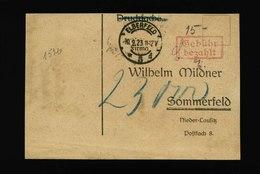 A5410) DR Infla Drucksachekarte Elberfeld 10.9.23 Nachporto 23000 - Deutschland