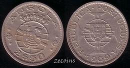 ANGOLA - 1 Coin Of 2,50 Escudos - 1969 - Angola