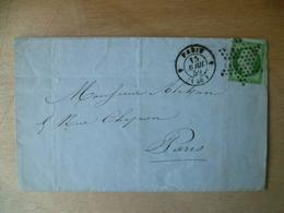LETTRE  5   CTS  NAPOLEON  ETOILE DE PARIS  1859 - Postmark Collection (Covers)