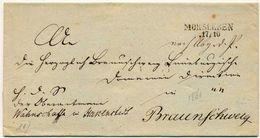 """""""MORSLEBEN"""" Pr. L 2 1831 Dienstsache Ns Hzgth Braunschweig - Deutschland"""