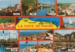 CPSM LA COTE DE NACRE Diverses Vues : Grandcamp, Ouistreham, Port En Bessin, Lion Sur Mer.... - Other Municipalities