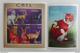 Grenada 2000** Klb.3313-18.+Bl.488. Cats MNH [14;86] - Katten