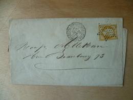 LETTRE  10  CTS  NAPOLEON - 1849-1876: Klassik