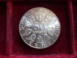 COIN AUSTRIA OSTEREICH 50 SCELLINI THEODOR KORNER 1973 SILVER ARGENTO 20 Gr. RIF. TAGG. - Austria