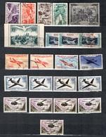 France Petite Collection De Poste Aérienne Neufs Et Oblitérés 1947/1959. Bonnes Valeurs. B/TB. A Saisir! - Luftpost