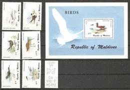 Maldives, Année 1980, Oiseaux - Maldives (1965-...)
