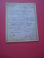 1936 AUTORISATION CIRCULATION AUTOBUS-LA TREILLE DUCOS AUBAGNE - Transports
