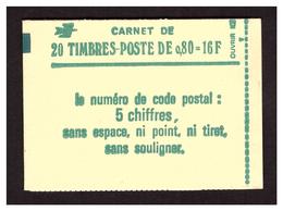 Sabine 0,80 Vert Carnet N° 1970 C1 - Carnets