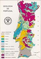 POSTCARD PORTUGAL - GEOLOGIA DE PORTUGAL - MAP - 1º GEOLOGORUM 1971 - MADRID - LISBOA - Portugal