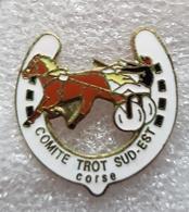 """Pin's Hipisme  """" Comité Trot Sud-Est   CORSE """" - Badges"""