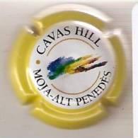 ECVH00688  PLACA DE CAVAS HILL COLOR AMARILLO (CAPSULE) - Sparkling Wine