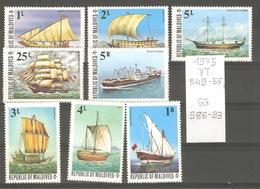 Maldives, Année 1975, Bateaux - Maldives (1965-...)