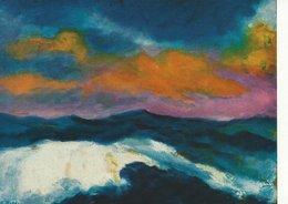 """Painting: Emil Nolde. """"Hohe See -bewegte Wolken""""   Germany.   # 07459 - Paintings"""