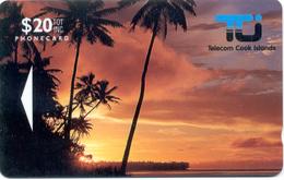"COOK Islands: COK-02. 01CID 20$ ""Sunset In Rarotonga"" Unused - Cook Islands"