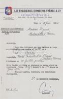 94 903 IVRY SUR SEINE 1962 Brasserie LES BRASSERIES DUMESNIL FRERES Brasseur Rue Marcel Hartmann Sugne DUPONT - France