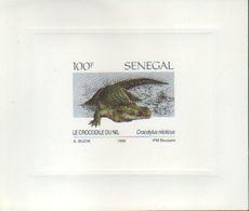 BUZIN / SENEGAL 1990 / FEUILLET DE LUXE / Y&T 896 - 1985-.. Oiseaux (Buzin)
