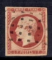 France YT N° 18 Oblitéré. Timbre Rare! A Saisir - 1853-1860 Napoleon III