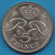 MONACO 5 FRANCS 1974 CHOUETTE RAINER III - 1960-2001 Nouveaux Francs