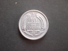 COIN CHILE CILE 10 PESOS 1 CONDOR 1957  RIF. TAGG. - Chile