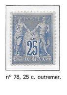 FRANCE N°78 - NEUF (*) - 1876-1878 Sage (Type I)