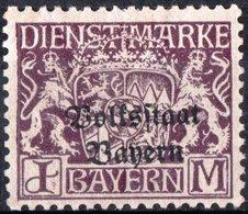 BAVIERA, BAYERN, GERMANIA, GERMANY, ANTICHI STATI, SERVIZIO, 1919, FRANCOBOLLI NUOVI (MLH*) Michel D42    Scott O32 - Bavaria