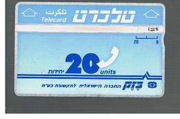 ISRAELE (ISRAEL) -   1992 TELECARD 20 - USED  -  RIF. 10873 - Israele