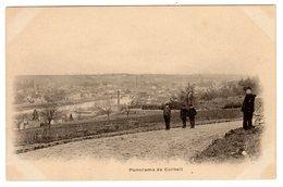 CPA Corbeil Essonnes Essonne 91 Panorama Avec Groupe D'enfants Dos Non Divisé - Corbeil Essonnes