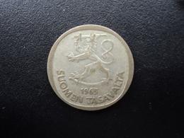 FINLANDE : 1 MARKKA  1965 S  Tranche A *  KM 49   TTB - Finland