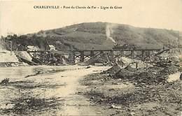 -dpts Div.-ref-YY658- Ardennes - Charleville - Pont Du Chemin De Fer - Train - Trains - Ligne De Givet - Carte Bon Etat - Charleville