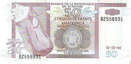 Burundi - Pick 36a - 50 Francs 1994 - Unc - Burundi