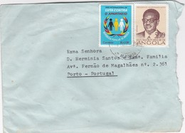 ANGOLA AIR MAIL COVER - LUANDA  To PORTO -  PORTUGAL - Angola