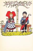 Alsace Illustrateur Hansi Madame Et Monsieur Sur Un Banc - Sin Clasificación