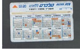 ISRAELE (ISRAEL) -   1996 CALENDAR 96.97   - USED  -  RIF. 10877 - Israele