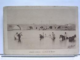 TURQUIE - ADANA (CILICIE) - LE PONT DE MESSIS - ANIMEE - CHEVAUX - Turquie