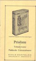 8 Pages . Tarif Tabac à Destination Des Îles Féroé .1965. ( 20x13 ). - Livres