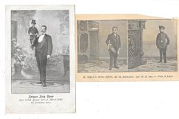 BIRMANIE - MYANMAR - M.SMAUN SING HPOO Né En Birmanie En 1883 - HOMME DE PETITE TAILLE - MINIATURE MEN - 2 Cartes - Myanmar (Burma)