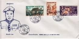 Laos 1973, Scouts Du Laos. YT 258 Et  PA 106 Et 107 Sur FDC 1 Septembre 1973 - Laos