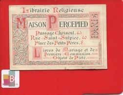 RARE Paris Librairie Religieuse Percepied Passage Choiseul Rue Saint-Sulpice Place Des Petits Pères Chromo Autriche 1878 - Andere