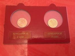 Lot De 2 Pièces Singapour (FDC) - Monete & Banconote