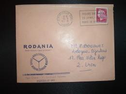 LETTRE TP M.DE CHEFFER 0,40 OBL.MEC.18-3 1970 13 MARSEILLE GARE DEPART + RODANIA SERVICE MONDIAL - Other