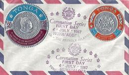 Tonga Coronation Series First Day 4 Juillet 1967 NUKU'ALOFA - Enveloppe 1er Jour Tonga - Tonga (1970-...)
