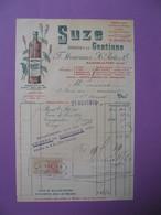 """Document  Fiscaux Perforé Perfin  MP - 98  F. Moureaux & H. Porte & Cie   21 Novembre 1919 """" Suze """" - Revenue Stamps"""